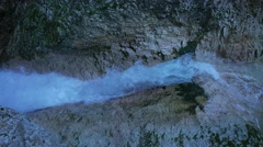 4K The Alps Berchtesgaden national park Almbachklamm Gorge canyon valley Stock Footage