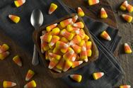 Sweet and Sugary Candy Corn Treats Stock Photos