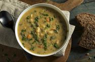 Homemade White Bean Soup Stock Photos