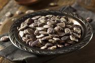 Raw Dry Organic Christmas Beans Stock Photos