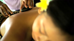 Beautiful Asian female relaxing at luxury spa resort with cleansing and healing Stock Footage