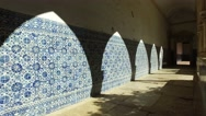 Tiles in interior of Christ convent - Tomar, Portugal Stock Footage