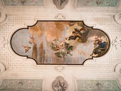 "Vicenza, Italy - May 13, 2015: The fresco ""the triumph of Virtue and Intellig Stock Photos"