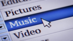 Music. My own design of program menu. Stock Footage