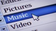 Music. My own design of program menu. Stock Footage