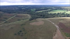 Ashdown forest fly over Stock Footage