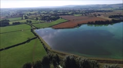 Barcombe resevoir tracking Stock Footage