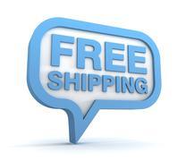Free shipping icon concept 3d illustration Stock Illustration