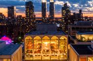 New York, NY, USA - June 22,2016: On a summer's evening, visitors came to enj Stock Photos