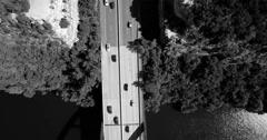 Aerial Footage – Black & White Bridge Stock Footage