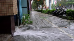 4K Explosion Of The Pipe Water in Taipei City. Water Leak Accident On Street-Dan Arkistovideo