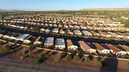Aerial shot of houses in a retirement community Stock Footage