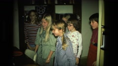 1974: birthday party with the cake FORT WAYNE, INDIANA Stock Footage