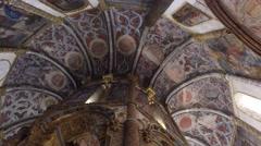Templar interior christ convent - Tomar, Portugal Stock Footage