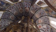 Templar interior christ convent - Tomar, Portugal Stock Footage