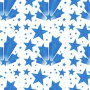Background design with blue stars Stock Illustration