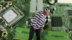 Criminal in circuit Stock Footage