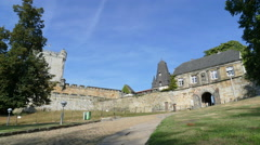 Entrance of Castle Bentheim in Bad Bentheim, time lapse Stock Footage