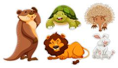 Sticker set of many wildlife Piirros
