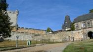 Entrance of Castle Bentheim in Bad Bentheim Stock Footage