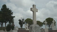 Greek Orthodox Cemetery Stock Footage