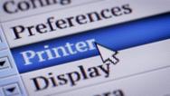 Printer. My own design of program menu. Stock Footage
