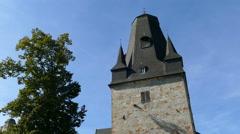 Main tower of Castle Bentheim in Bad Bentheim Stock Footage