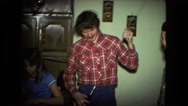 1974: an indoor family party is seen FORT WAYNE, INDIANA Stock Footage
