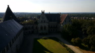 View from the wall of castle Bentheim to garden Stock Footage