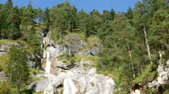 4K The Alps Berchtesgaden national park Almbachklamm Gorge Sulzer waterfall Stock Footage