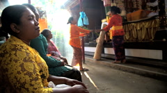 Bali - Balinese people preparing to perform traditional wedding Stock Footage