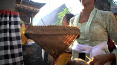 Bali - Balinese traditional wedding gifts given as offerings  Stock Footage