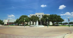 Driving Past City Hall in Waco Texas Stock Footage