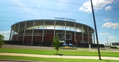 Driving Past McLane Stadium in Waco Texas Stock Footage