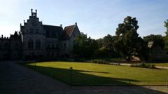 Inside the garden of castle Bentheim Stock Footage