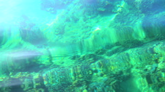 View underwater of transparent tropical clear turquoise ocean water Indian ocean Stock Footage