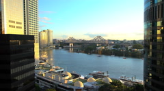 Australia - August 2016: Steamboats at Eagle Street Pier on Brisbane River with Stock Footage