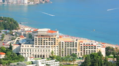 Luxury hotel Splendid on the Adriatic coast, Budva, Montenegro Stock Footage