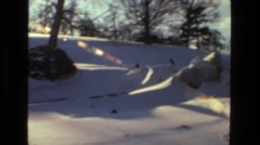 1978: winter snowscape lens flair sunshine wonderland LAS VEGAS Stock Footage