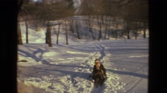 1978: snow covered road is seen LAS VEGAS Stock Footage