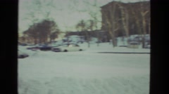 1978: city street with cars buried under layer of snow LAS VEGAS Stock Footage