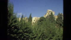 1978: hilly area is seen with trees and greenery LAS VEGAS Stock Footage