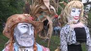 Halloween decorations Stock Footage