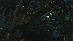 Aerial night view of London UK Stock Footage