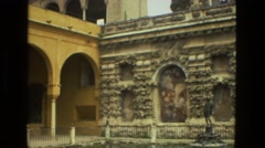 1978: ancient culture civilization building bathe roman architecture FRANCE Stock Footage