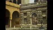 1978: ancient culture civilization building bathe roman architecture FRANCE Stock Footage