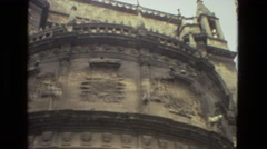 1978: outside stone relief building public structure classical roman Stock Footage