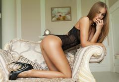 Photo of sexual blond woman Stock Photos