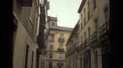 1978: downtown european style urban cityscape classical architecture FRANCE Stock Footage
