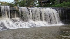 Tat Ton Waterfall in Ubon Ratchathani at Thailand Stock Footage